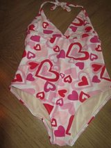 (Sz14/16 Girls) Bathing Suit w/HEARTS, sz 14/16 Youth/Kids GIRL in Baytown, Texas