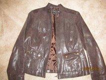 Ladies Alfani Brown Leather jacket size L in Fort Benning, Georgia